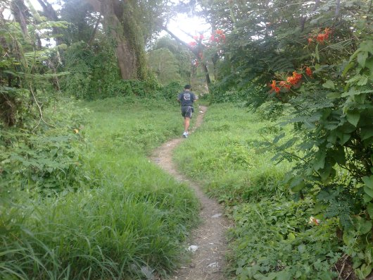 We started in this trail inside RK Village, Brgy.Kulintang Ibaba