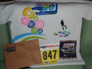 Race Bib and the free t-shirt