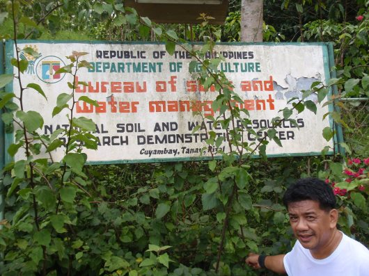 Bureau of Soils and Water plant/office in Cayumbay. No we had no free water.