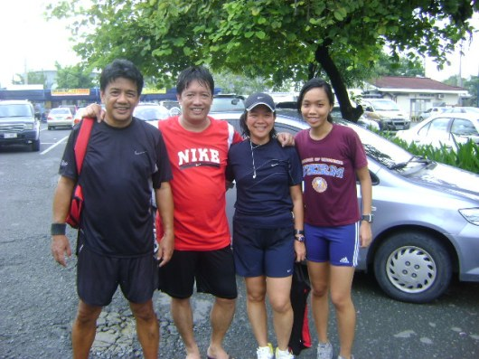 With Anna, (themeekrunner) and her running family