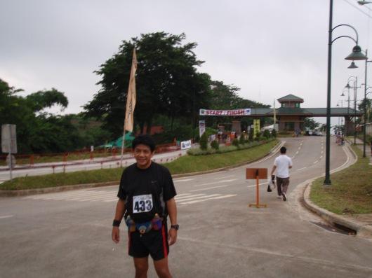 Posing near the start
