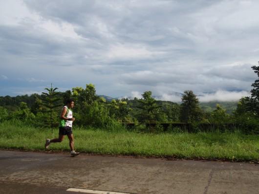 Running past the scenery