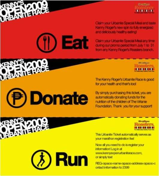 Urbanite Run Tickets will entitle participants to this