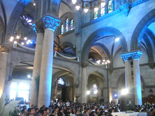 Cory being honored at the Manila Cathedral last night
