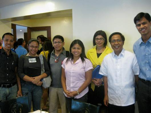 Runnex Pres. Rudy and Vice Chair Betty with the bloggers