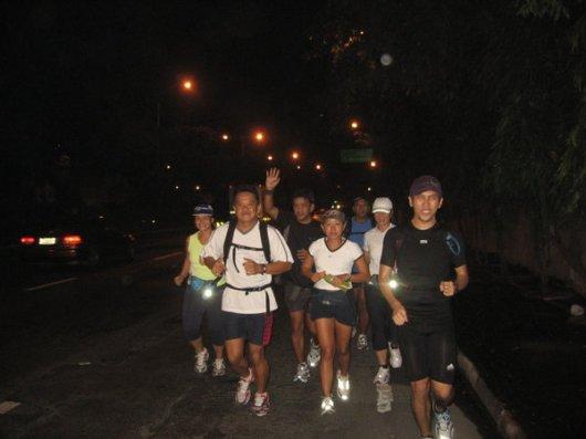 Start of our run, 4:30am