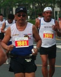 Ron running the Globe Run For Home Race